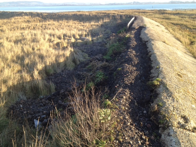 Thorney Island sea wall repairs - Before
