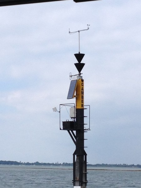 Cambermet weather station in the harbour